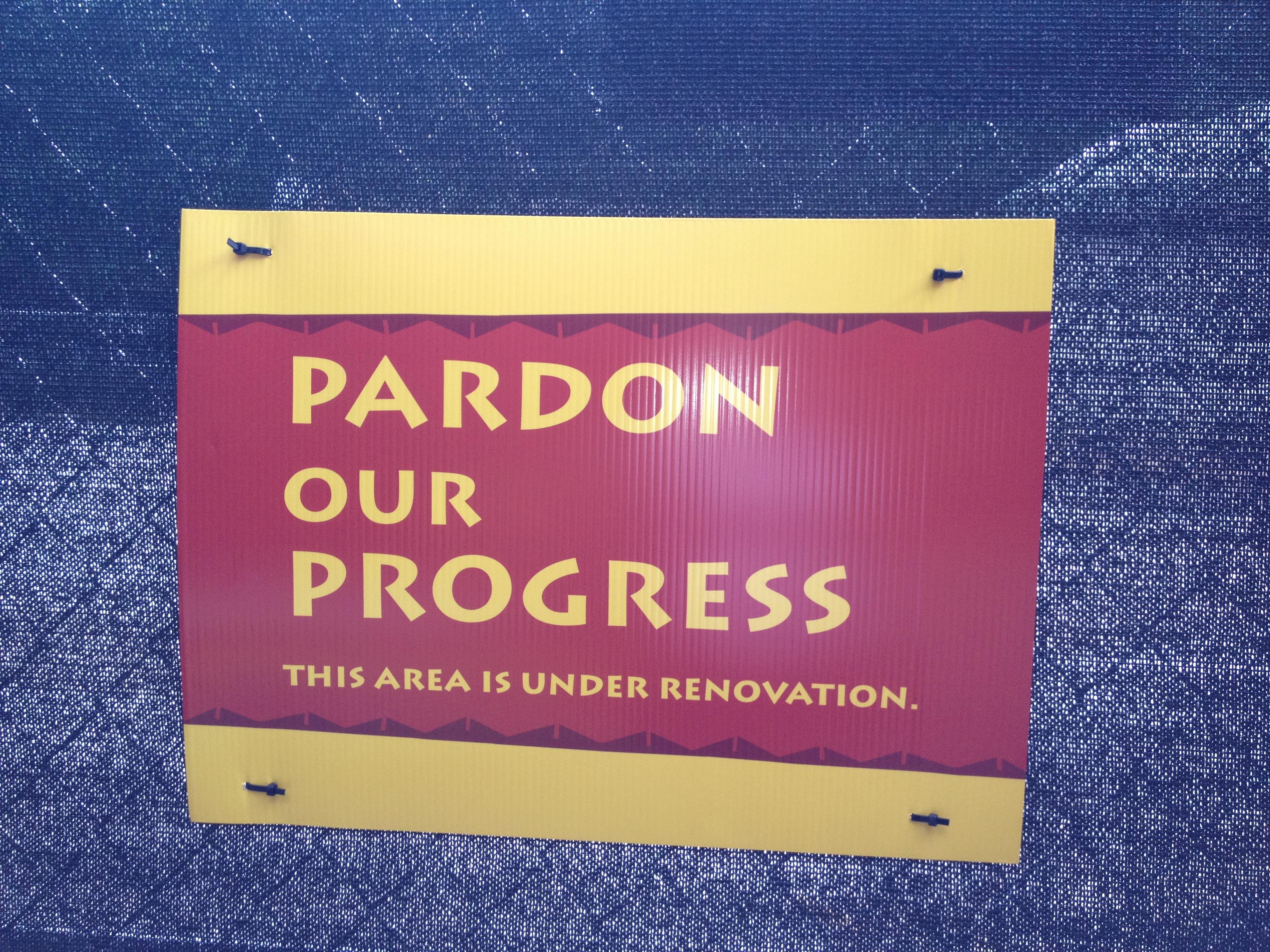 PardonOurProgress