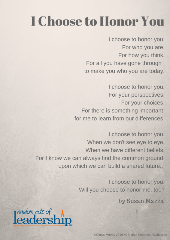 I Choose to Honor You